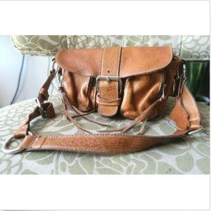 ROOTS 😋 Genuine Leather EMILY Pocket Shoulder bag